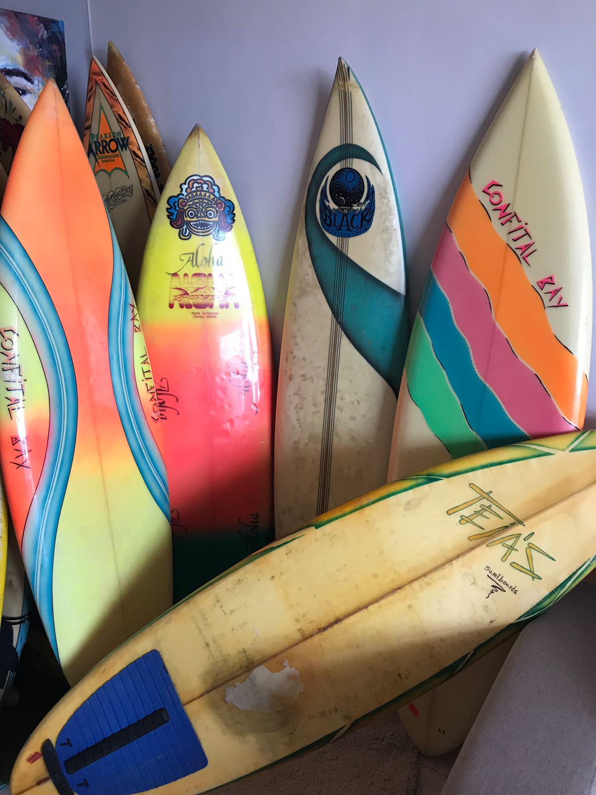 Canarian vintage surfboards
