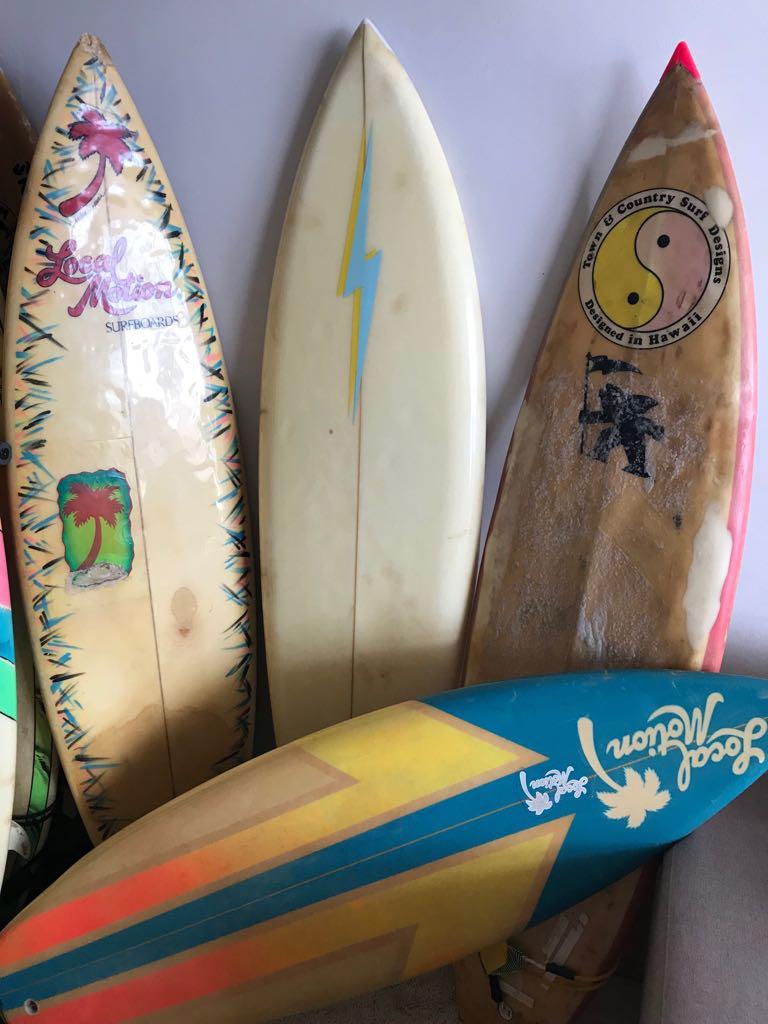hawaian vintage surfboards