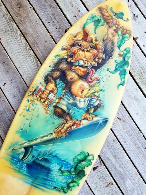 Phil Roberts airbrushed Surfboard