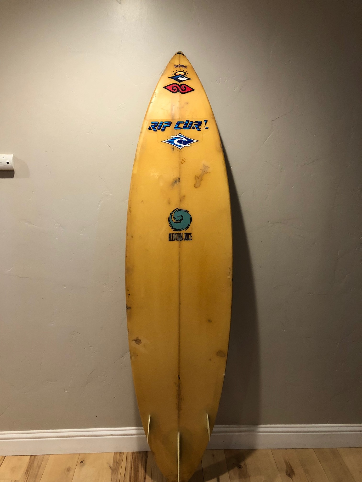 "1989 6'9"" Tom Curren personal board shaped by Dave Parmenter"