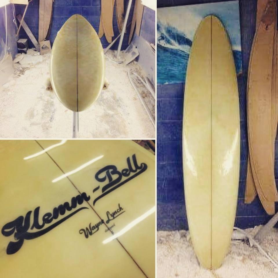 Klemm Bell shaped by Wayne Lynch 1971 ..S Deck shape from the sea of joy movie board 6'10