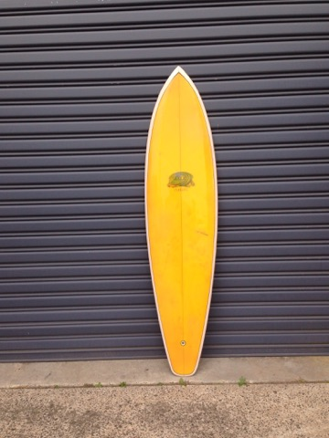Shane Custom 1975 collaboration with Michael Peterson  fully restored 6'10 rounded single fin 2