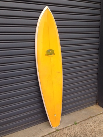 Shane Custom 1975 collaboration with Michael Peterson  fully restored 6'10 rounded single fin