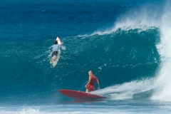 Randy Rarick, surfing at Sunset Point, on the north shore of Oahu, Hawaii.